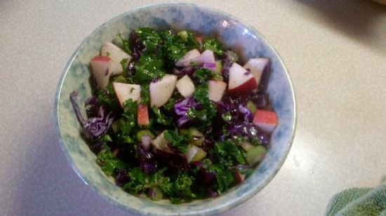 Kale and Red Cabbage Slaw