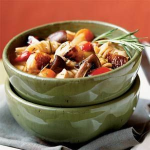 Roasted Vegetable-Rosemary Chicken Soup