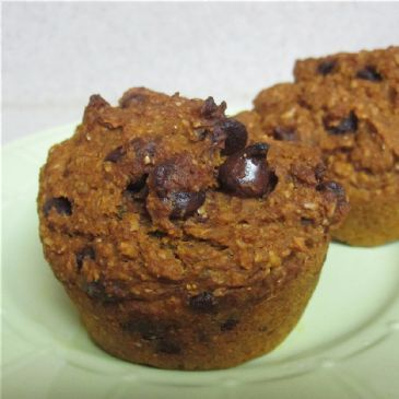 Pumpkin Chocolate Chip Bran Muffins