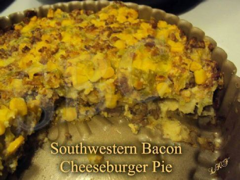 Southwestern Bacon Cheeseburger Pie