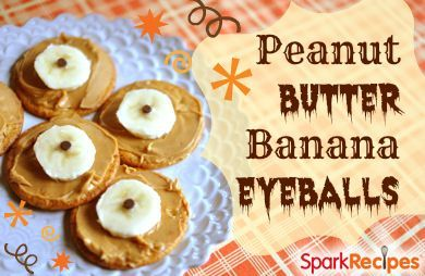 Peanut Butter Banana Eyeballs