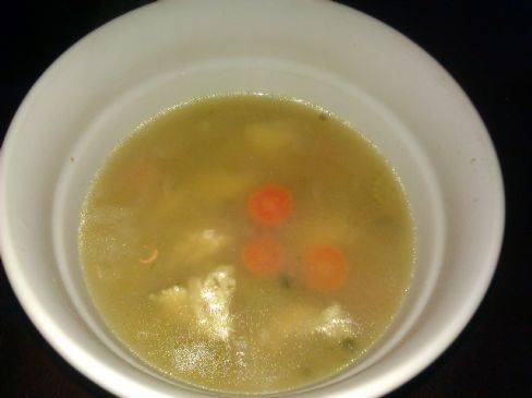 Chicken soup, cold remedy
