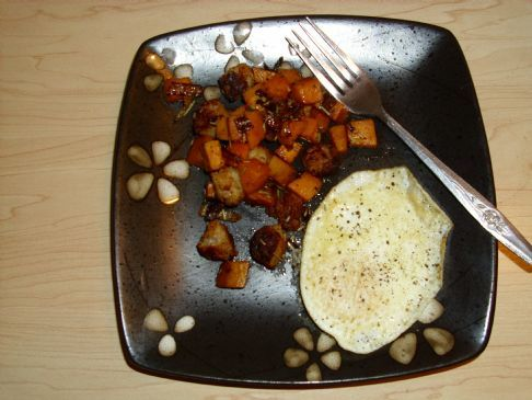 Sweet Potato and Sausage Hash with Fried Egg