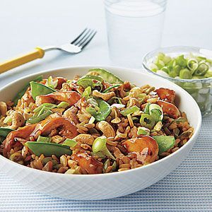Chicken, Snow Pea and Cashew Rice