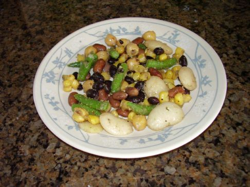 5 Bean Salad using Dried Beans