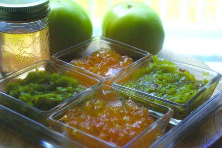 Orange-Green Tomato Relish