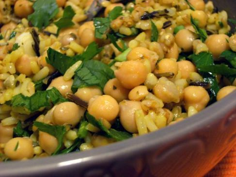 Curried Chick peas and rice