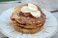Whole Wheat Banana Pancakes (100 Days of Real Food)