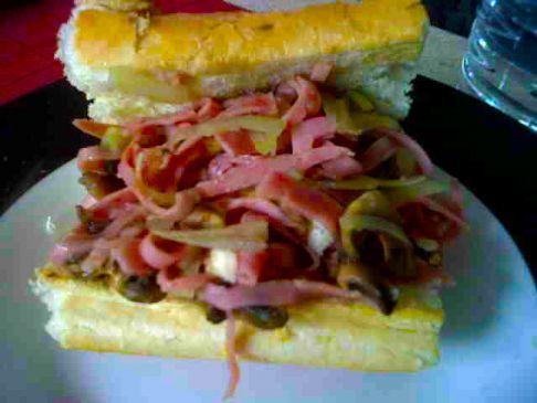 Ham and Mushroom Sandwich