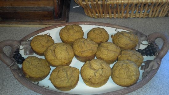 Sugar & Egg Free Pumpkin Muffins
