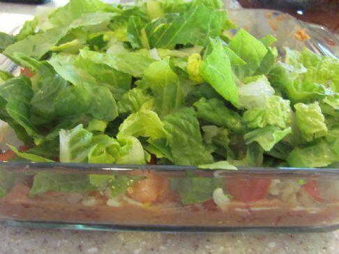 Vegetarian 7 Layer Bean Dip