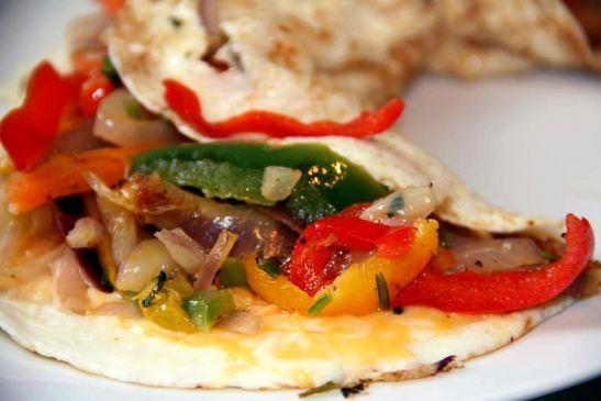 Loaded Vegetable Egg White Omelet