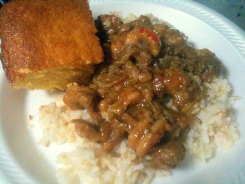 Crawfish Etoufee (1 cup serving size)