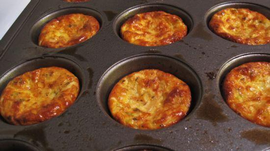 Zucchini  and Onion Egg Muffins