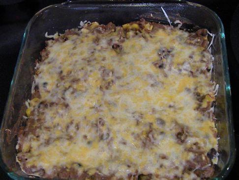 Beef Mexican Tortilla Casserole