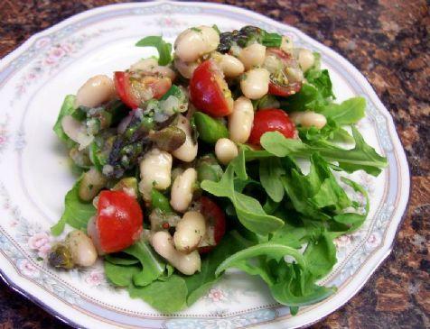 White Bean, Asparagus & Tomato Salad