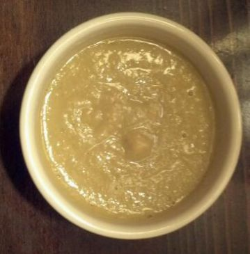 Curried Brussels Sprouts Soup w/ Yellow Split Peas