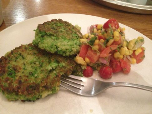 Pea and Quinoa Fritters