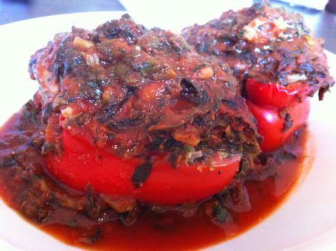 stuffed red pepper
