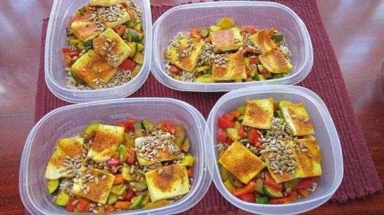 Curried Tofu, Veggies and Rice