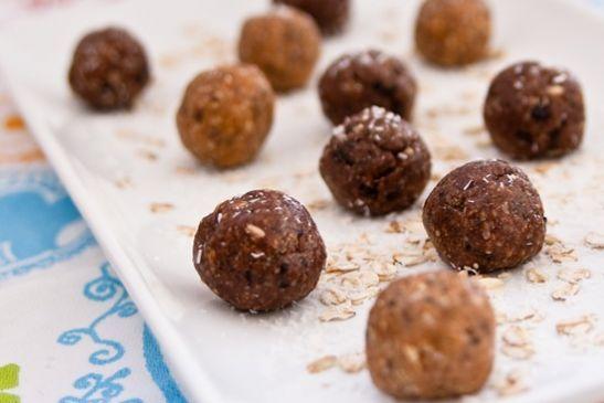 Chocolate Almond Coconut Doughballs