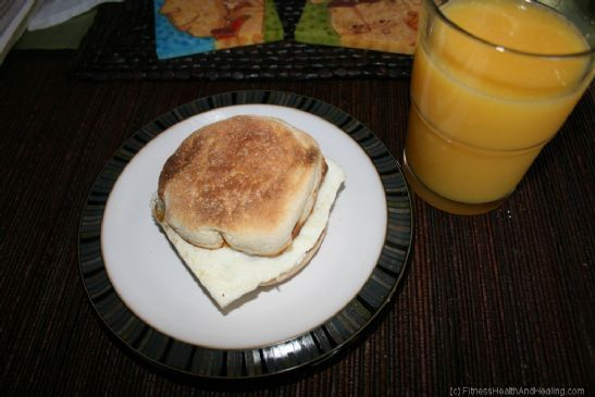 Egg, Bacon, & Cheese Muffin with Juice