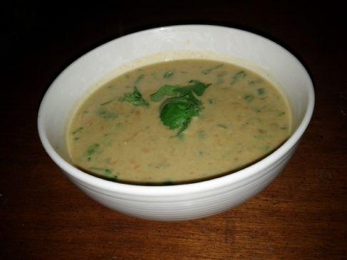 Coconut-Curry Red Lentil Soup