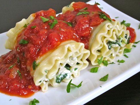 Turkey & Spinach Lasagna roll ups (Seymour)