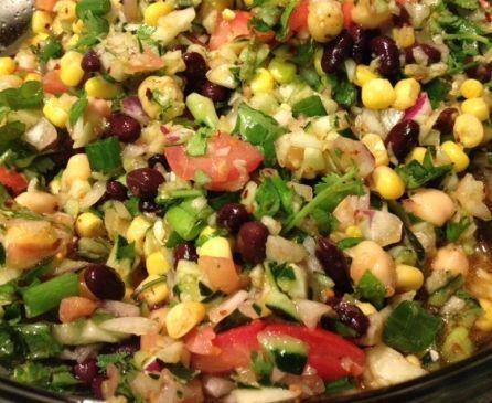Vegan Beans and Bits Salad