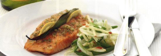 Salmon with a Lemon & Rosemary Glaze