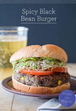 Vegan Spicy Black Bean Burgers