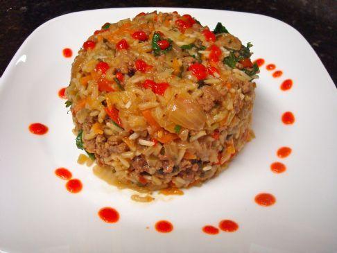 Spicy Thai Beef and Jasmine Rice