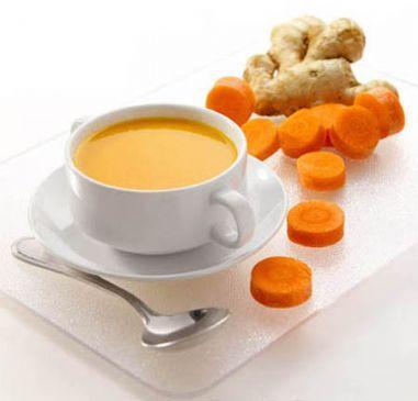 Carrot Ginger Tofu Soup-Vitamix