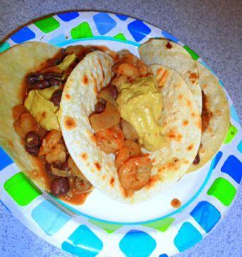 Shrimp & Black Bean Tacos (1/2 Cup)