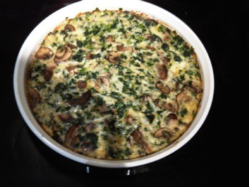 Crustless Spinach Mushroom Quiche