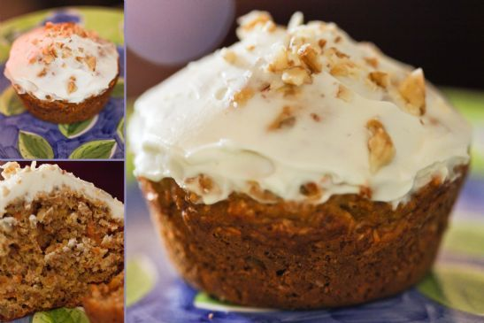 Better Choice Carrot Cake Muffins with Topping