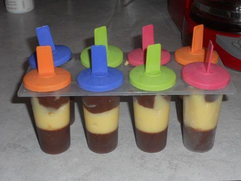 Chocolate Banana Ice Pops