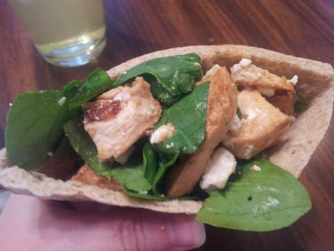 Chicken, Spinach & Feta Pita Pocket