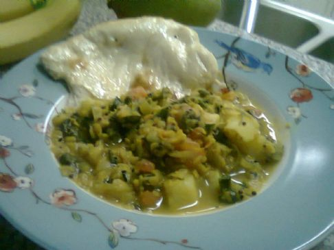 Mustard Spinach Curry with Potatoes