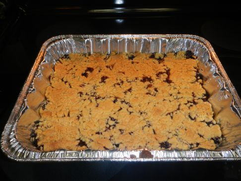Chia Seed Blueberry Cobbler