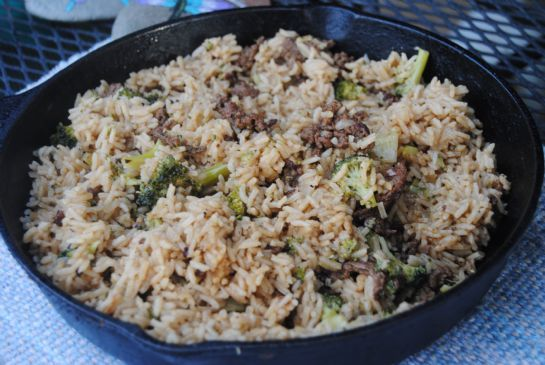 Hamburger Broccoli Rice