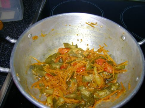 Carrot-Okra curry