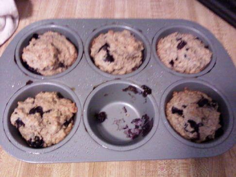 Lori's Sugar Free whole wheat Blueberry Muffins