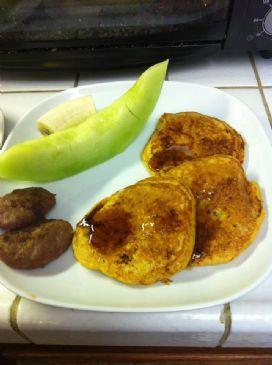 Pumpkin-Pecan Pancakes (per 4