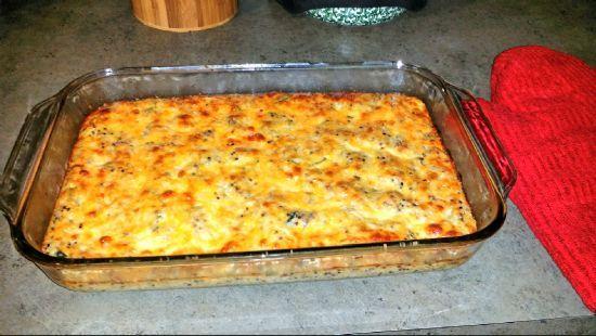 Quinoa-Sausage-Cheese Casserole