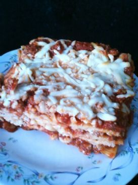 Lasagna (made with Turkey meat)