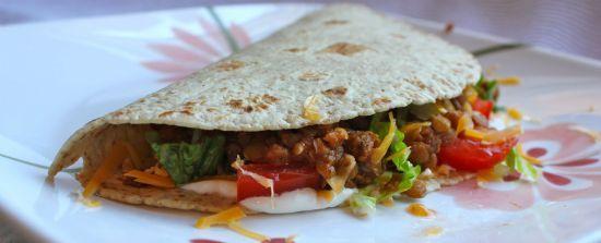 Lentil Soft Tacos