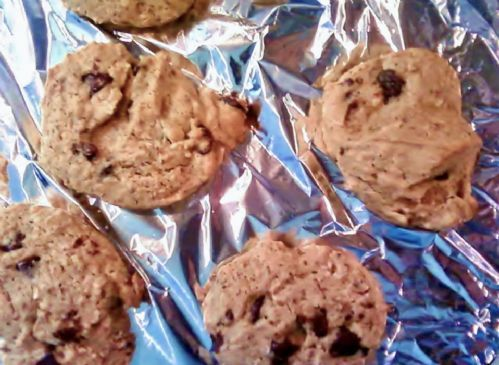 Oat meal Chocolate Chip Flax Seed Cookies