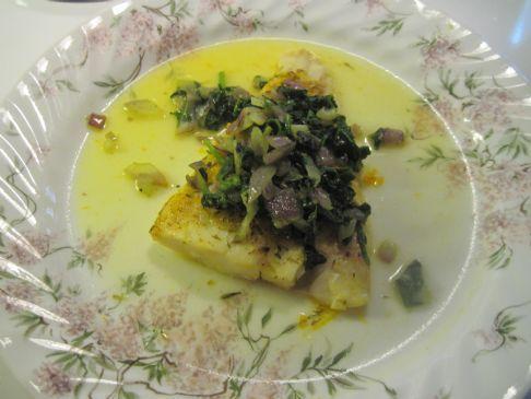 Atlantic Cod In Orange Juice w. Spinach & Onions
