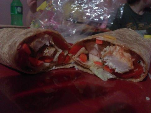 Hawaiian Chicken Salsa Wrap